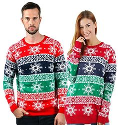 Uideazone Unisex Ugly Christmas Sweaters Long Sleeve Round Neck Knitted Sweater Pullover. . .  #unisexpullover #unisex #pullover #pulloveroutfit #pulloversweaters #sweaters #sweatersforwomen #sweatersformen #winterclothing #winterfashion #christmasgifts #christmassweaters