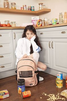 Photo album containing 18 pictures of IU New Balance Outfit, New Balance Shoes, Iu Fashion, Korean Fashion, Mamamoo, Kpop Girl Groups, Kpop Girls, Snsd, Girl Bands