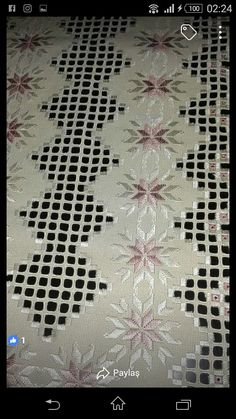 This Pin was discovered by Hac Embroidery Tools, Hardanger Embroidery, Types Of Embroidery, Embroidery Patterns, Hand Embroidery, Drawn Thread, Hello Kitty Wallpaper, Cross Stitch Patterns, Cross Stitches