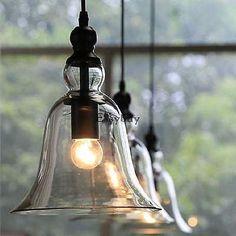Glass Ceiling Light Modern Chandelier Pendant Kitchen Dining Room Fixture Light