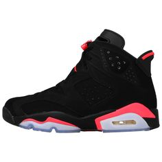 "Nike Mens Air Jordan 6 Retro ""Infrared"" Black/Infrared 23 Suede Basketball Shoes Size 12"