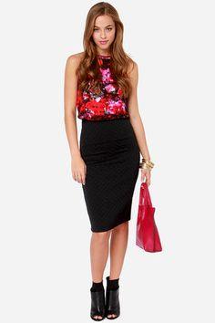 Jack by BB Dakota Blake Quilted Black Skirt at Lulus.com!