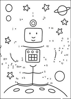 Connect the dots and color ! Space Activities, Learning Activities, Kids Learning, Activities For Kids, Space Games, Space Party, Space Theme, Dot To Dot Printables, Dotted Page