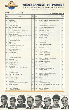 Music Charts, Top 40, Veronica, Beatles, Retro, Dutch, November, High School, Bands