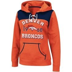 Denver Broncos Ladies Preseason Favorite III Pullover Hoodie - Orange