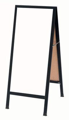 "BA-311SW - 42""H x 18""W Black Aluminum Frame w/White Porcelain Markerboard | Sale Price: $183.83"