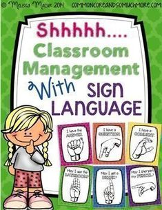 FREE: Classroom Management with Sign Language. Hang up these posters in the front of your room for students to see. As you are teaching and students raise their hand for a purpose, they must refer to the posters to hold up the correct sign. Download this FREEBIE at: https://www.teacherspayteachers.com/Product/FREE-Shhh-Classroom-Management-with-Hand-Signs-1342398 #signlanguageposter