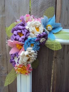 like these burlap flowers
