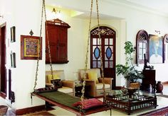 Oonjal - Wooden Swings in South Indian Homes with beautiful photos.
