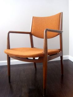 Pair Mid Century Danish Modern Teak Arm Chairs with by rhanvintage, $800.00