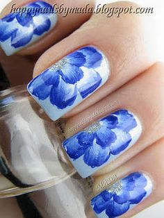 Beautiful Flower Mani