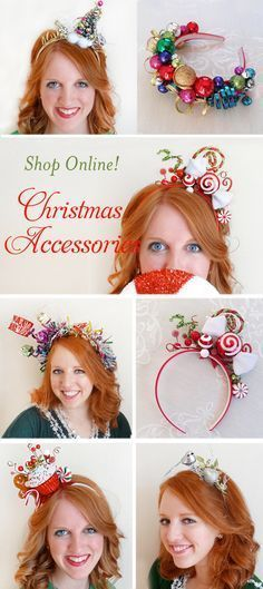 Christmas hair accessories for women, Christmas headbands for women, Ugly Sweater Party hair pieces, holiday headbands for adults. SHOP ONLINE: www. Diy Ugly Christmas Sweater, Christmas Sweaters For Women, Ugly Sweater Party, Grinch Christmas, Christmas Costumes, Diy Christmas Headbands, Ugly Sweater Couple, Adult Christmas Party, Xmas Sweaters