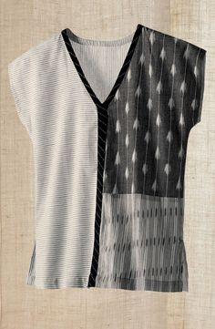 Cotton ikat top, fair trade