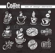 chalkboard coffee: Coffee Design-Elemente auf die Tafel