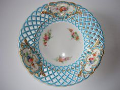 Minton, pierced, reticulated