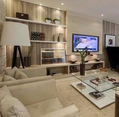 Home Decor Ideas Classic Living Room, Home Living Room, Living Room Designs, Living Room Decor, Interior Desing, Home Fashion, Home Tv, Luxury Living, Family Room