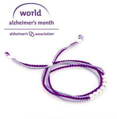 World Alzheimer S Month Bracelet Cj Free Jewelry Alzheimers Tgen Mindcrowd Www