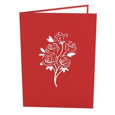 Rose Bouquet Pop Up Valentine's Day Card