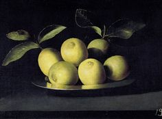 .:. Juan de Zurbarán   Still Life with Lemons on a Plate, ca. 1640
