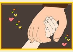 FREE printable card : two holding hands