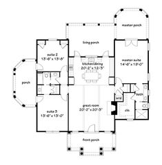 Looking for the best house plans? Check out the Sadie Springs Retreat plan from Southern Living. Free House Plans, Small House Floor Plans, Home Design Floor Plans, Best House Plans, Small Cottage Homes, Small Tiny House, Tiny House Design, Southern Living House Plans, Diy Shutters