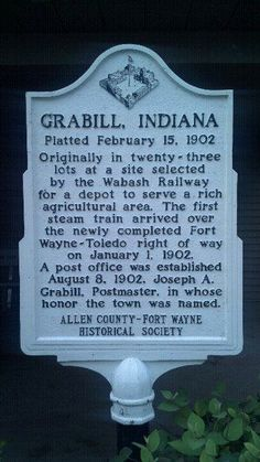 Grabill, Indiana.  My home.