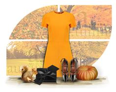 """Orange Fall Colors"" by divine-designer ❤ liked on Polyvore featuring Forum, Victoria Beckham and RED Valentino"