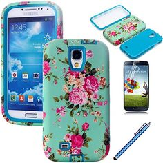 Galaxy S4 Case, EC™ [Flower Design] Case, Luxury 3 in 1 Hybrid High Impact Soft TPU + Hard PC Case Cover for Samsung Galaxy S4 i9500 (AT&T, Verizon, T-Mobile, Sprint, And All International Carriers) with Screen Protector + Stylus (Flower-Blue) EC™ http://www.amazon.com/dp/B00Q6I8QEM/ref=cm_sw_r_pi_dp_bxC1wb0CZ731G