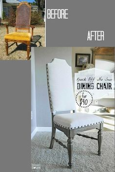 Knock Off No Sew Dining Chairs  Dining Chairs Front Yards And Endearing Reupholster Dining Room Chairs Design Decoration