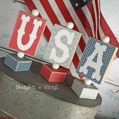 USA wooden stands