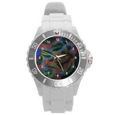 The Algae UNISEX  Plastic Sport Watch (Large)  by Jocelyn Apple/Appleartcom. The algae Plastic Sport Watch (Large) by Jocelyn Apple/Appleartcom Round Plastic Sport Watch (L).