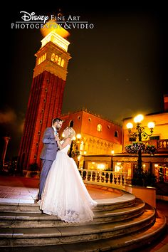 Host an enchanted wedding reception at the Italy Plaza in Epcot