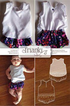 Baby Onesie with Sheer Overshirt  PDF Sewing Pattern & door Frianki