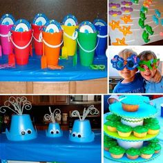 Under the Sea birthday theme.Brycen's First birthday Idea's Birthday Fun, Birthday Parties, Birthday Ideas, Tea Parties, Octonauts Party, Little Mermaid Parties, Under The Sea Party, Baby Shower, Have Time