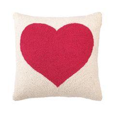 Pink Heart Pillow by PHI. #heart #pillow #pink