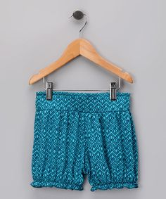Take a look at this Turquoise Abstract Bloomers - Infant & Toddler by Right Bank Babies on today! Sewing For Kids, Fabric Patterns, Snug, Gym Shorts Womens, Short Dresses, Swimwear, Beautiful, Infant Toddler