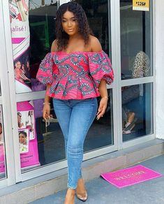 Short African Dresses, African Blouses, African Tops, African Fashion Dresses, African Shirts, African Style, Ankara Peplum Tops, Ankara Dress, Ankara Clothing