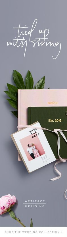 Tying the knot? Outfit your best day from start to finish with /artifactuprsng/'s new wedding collection, featuring premium quality photo albums, guest books, save the dates and more.