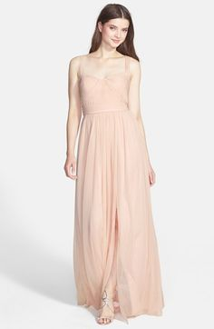 ML Monique Lhuillier Bridesmaids Jersey Chiffon Gown
