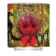 Indigo Child Shower Curtain by Joseph Mosley