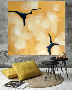Hand-painted Large Minimal Abstract Painting by ObaidAbstractArt