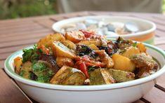 Μπριάμ στο φούρνο – Newsbeast Kung Pao Chicken, Potato Salad, Pork, Potatoes, Meat, Cooking, Ethnic Recipes, Pork Roulade, Beef