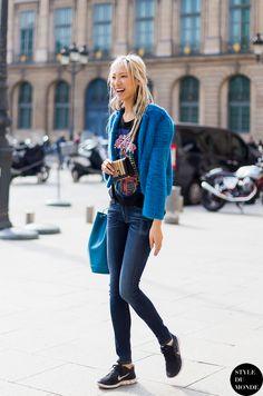 Soo Joo being cool. #offduty in Paris. #SooJooPark