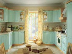 light blue cabinets in kitchen | ... and light blue kitchen colors good feng shui modern kitchen design