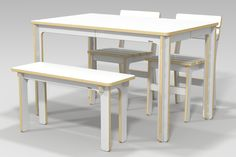 JOY DINING TABLE / CNC ROUTER /  3D DESIGN / PLYWOOD FURNITURE / 유창석 www.joinxstudio.com
