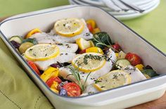 A simple Fish tray bake recipe for you to cook a great meal for family or friends. Buy the ingredients for our Fish tray bake recipe from Tesco today.