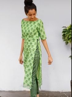 Latest trendy simple kurta designs - The handmade craft Kurti Sleeves Design, Sleeves Designs For Dresses, Kurta Neck Design, Dress Neck Designs, Blouse Designs, Neck Design For Kurtis, Salwar Designs, Kurta Designs Women, Kurti Designs Party Wear