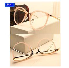 B New Round Glasses Frame Vintage Women Optical Glasses Myopia Eyewear Metal Oculos De Grau Green Red Pink Eyeglasses Gafas Pink Eyeglasses, Eyeglasses Frames For Women, Cute Glasses, Glasses Case, Women's Optical, Fashion Eye Glasses, Optical Glasses, Womens Glasses, Eyewear