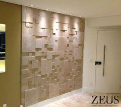 Revestimento cimenticio Mosaico Zeus - cor travertino
