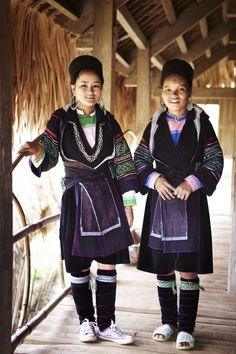 Sapa image gallery - Lonely Planet Two girls from Black Hmong tribe in Bo Lu village